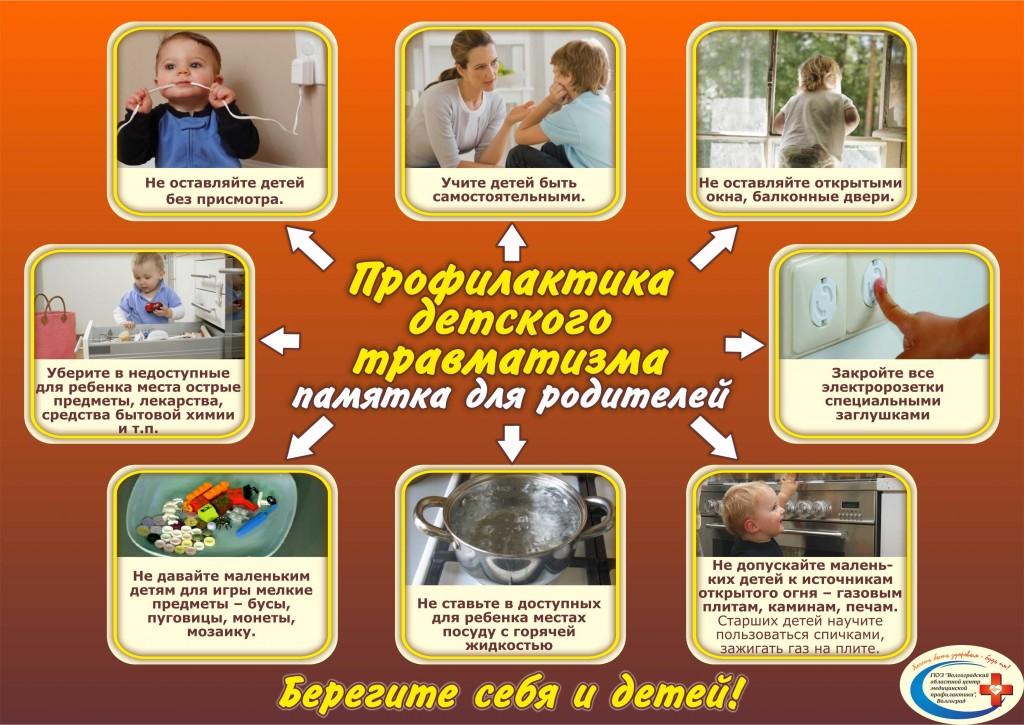 Плакат Профилактика детского травматизма